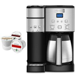 Cuisinart 10-Cup Thermal Single-Serve Brewer Coffeemaker Sil