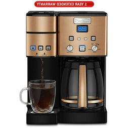 Cuisinart 12 Cup Coffeemaker and Single Serve Brewer Copper