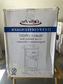 Coffee Pro 12 Cup Stainlesss Steel Coffeemaker CP626T