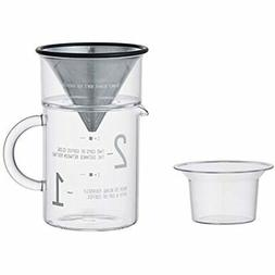 300 Milliliter 2 Cup Coffee Jug With Stainless Steel Filter