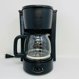 AmazonBasics 5-Cup Coffeemaker with Glass Carafe Black  NEW