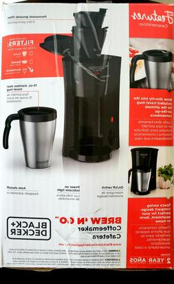 Black Decker Brew N Go Personal 1 One Cup Coffeemaker with T