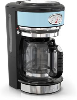 Russell Hobbs CM3100BLR Retro Style 8-Cup Coffeemaker, Heave