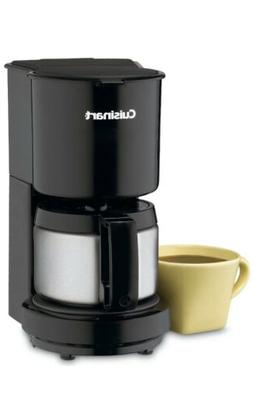 Cuisinart DCC-450BK 4-Cup Coffeemaker with Stainless-Steel C