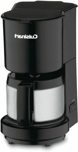 DCC-450BK 4-Cup Coffeemaker with Stainless-Steel Carafe, Bla