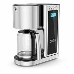 Russell Hobbs Glass Series 8-Cup Coffeemaker, Black & Stainl