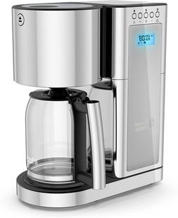 Russell Hobbs Glass Series 8-Cup Coffeemaker, Silver  Stainl