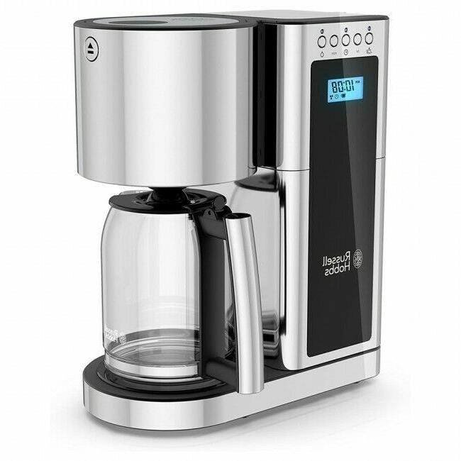Russell Hobbs Glass 8 Cup Coffeemaker in Black and Stainless