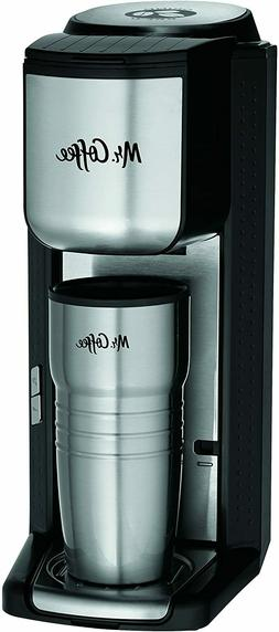 Mr. Coffee 16 oz Single Cup Coffeemaker with Built-in Grinde