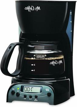 Mr. Coffee® 4-Cup Programmable Coffee Maker, Black, DRX5-NP