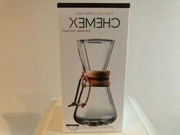 NEW Chemex Classic Series Pour over Glass Coffeemaker 3 cup
