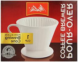 New Melitta #2 Porcelain Manual Brewing Cone Pour-Over Coffe