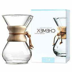 CHEMEX Pour-Over Glass Coffeemaker - Classic Series - 6-Cup-