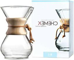 CHEMEX PourOver Glass Coffeemaker  Classic Series  6Cup  Exc