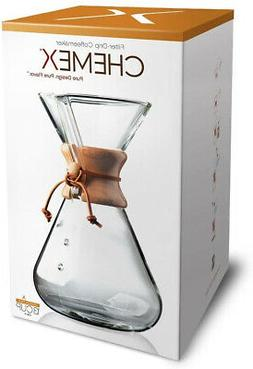pourover glass coffeemaker hand blown series 13cup