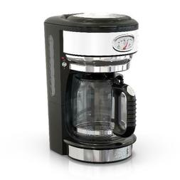 Russell Hobbs Retro Style 8-Cup Coffeemaker, White, CM3100WT