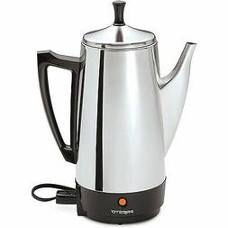 Presto 02811 12-Cup Stainless Steel Coffeemaker, Chrome