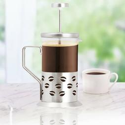 Stainless Steel Single Cup Coffee Maker With Built In Grinde