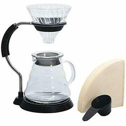 V60 Pour Over Coffee Makers Arm Stand With Glass Dripper Set