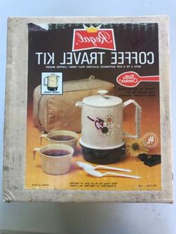 Vintage Regal2-4 Cup Travel Coffee Kit SEALED New BOX USA